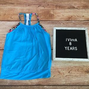 Ivivva Double Dutch Girls 8 Blue Active Tank